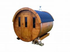 Sauna barrel Ø1.9 x 2.5 m